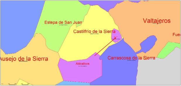 Enclave redondo de Aldealices en Castilfrío de la Sierra (Soria)