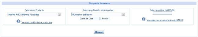 IGN. Centro de descargas. Valle de Losa. Ortofoto PNOA Máxima Actualidad